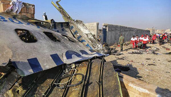 Katastrofa lotnicza ukraińskiego samolotu w Iranie - Sputnik Polska