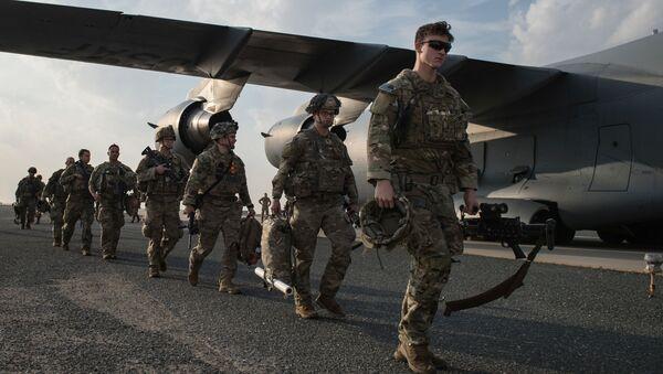 Amerykańscy żołnierze w bazie Ali Al Salem w Kuwejcie. - Sputnik Polska