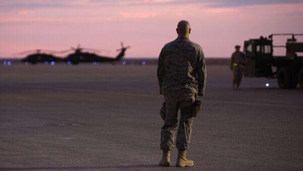 Amerykański żołnierz w bazie w Iraku - Sputnik Polska