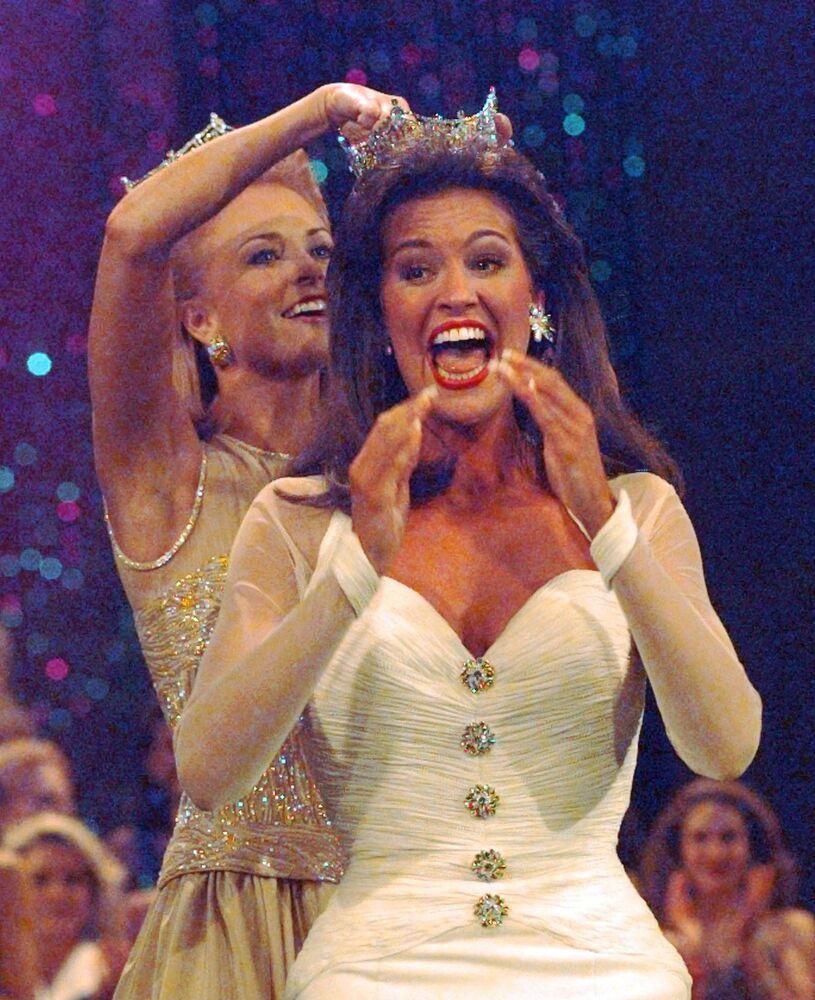 """Tara Dawn Holland, zwyciężczyni konkursu """"Miss America"""" w 1997 roku"""
