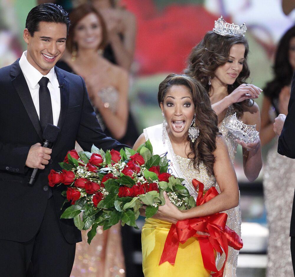 """Caressa Cameron, zwyciężczyni konkursu """"Miss America"""" w 2010 roku"""