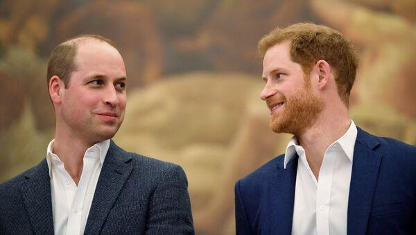 Książę Harry i książę William  - Sputnik Polska