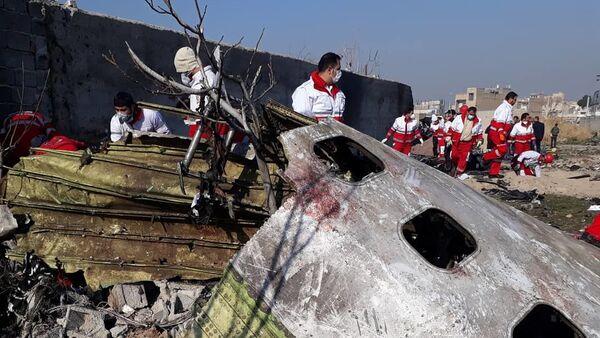 Katastrofa ukraińskiego samolotu pasażerskiego w Iranie. - Sputnik Polska