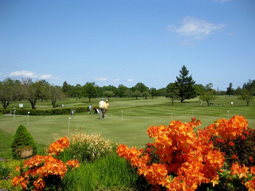 Pole golfowe w Północnym Saanich, Kanada.