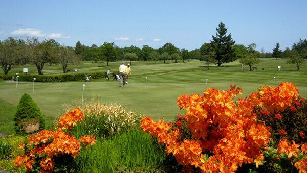 Pole golfowe w Północnym Saanich, Kanada - Sputnik Polska