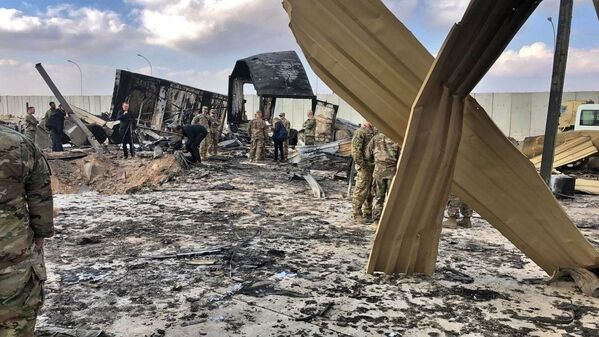 Konsekwencje ostrzału amerykańskiej bazy wojskowej w Iraku - Sputnik Polska