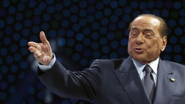 Były premier Włoch Silvio Berlusconi w czasie wystąpienia w Zagrzebiu, Chorwacja - Sputnik Polska