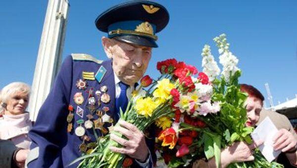 Weteran II wojny światowej, 70-lecie zwycięstwa w Rydze - Sputnik Polska
