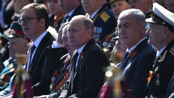 73. rocznica zwycięstwa w II wojnie światowej, uroczystości na Placu Czerwonym, 9 maja 2018 - Sputnik Polska