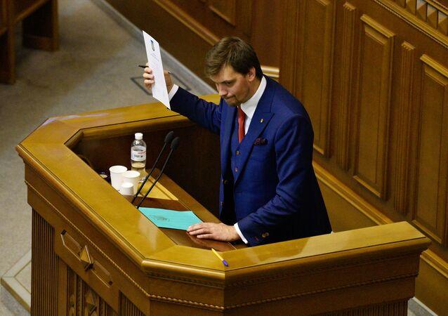 Premier Ukrainy Ołeksiej Honczaruk