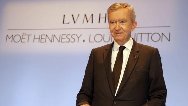 Szef francuskiego LVMH (Moet Hennessy — Louis Vuitton) Bernard Arnault. - Sputnik Polska