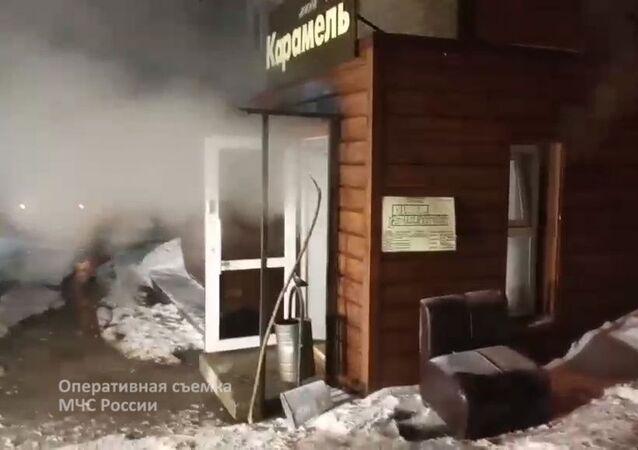"""Wejście do minihotelu """"Karamel"""", Perm"""