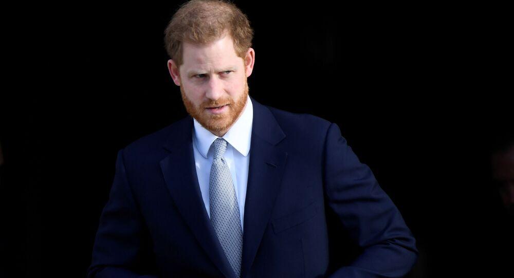 Książę Harry w Pałacu Buckingham