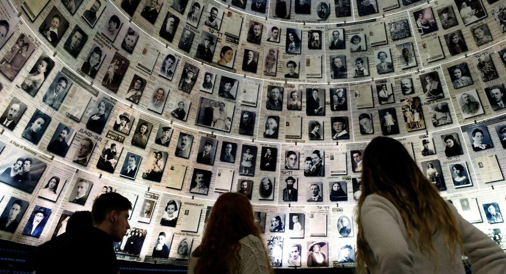 Sala Imion Milionów Ofiar Holokaustu w Centrum Pamięci Jad Waszem w Jerozolimie