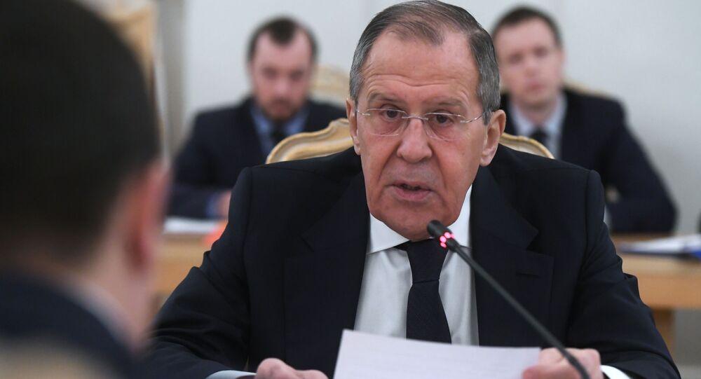Pełniący obowiązki ministra spraw zagranicznych Rosji Siergiej Ławrow