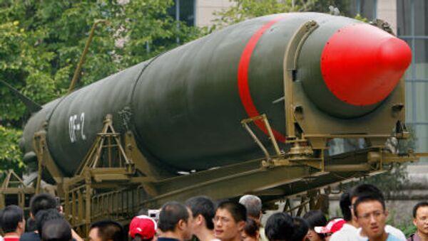 Chiński pocisk z głowicą jądrową w muzeum w Pekinie. - Sputnik Polska