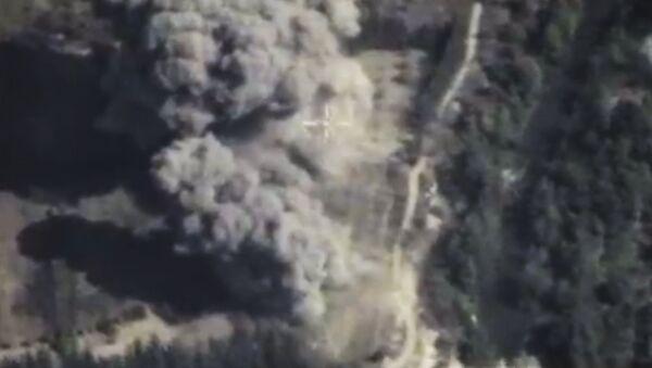 Naloty rosyjskiego lotnictwa na pozycje PI w Syrii - Sputnik Polska