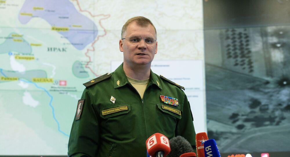 Briefing oficjalnego przedstawiciela Ministerstwa Obrony generała-majora Igora Konaszenkowa