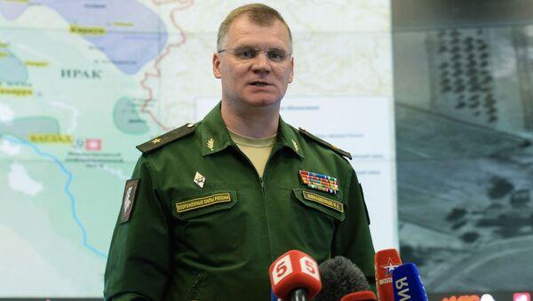 Briefing oficjalnego przedstawiciela Ministerstwa Obrony generała-majora Igora Konaszenkowa - Sputnik Polska