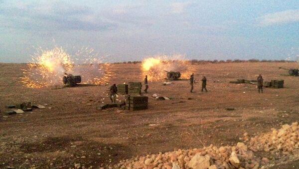Syryjska artyleria ostrzeliwuje bojowników PI w prowincji Hama - Sputnik Polska