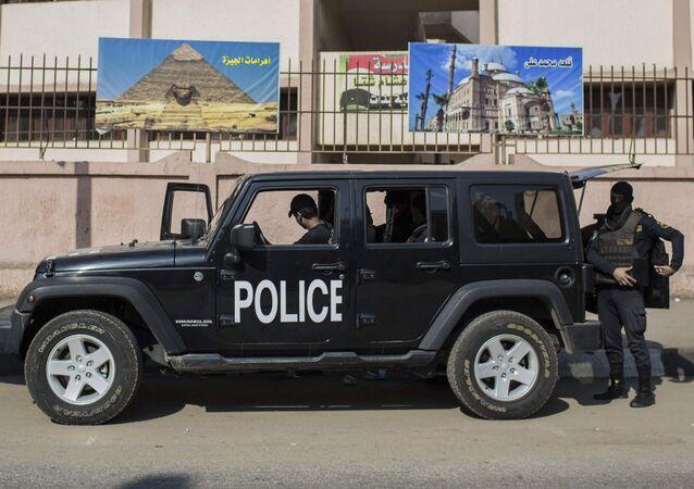 Funkcjonariusze policji w Egipcie