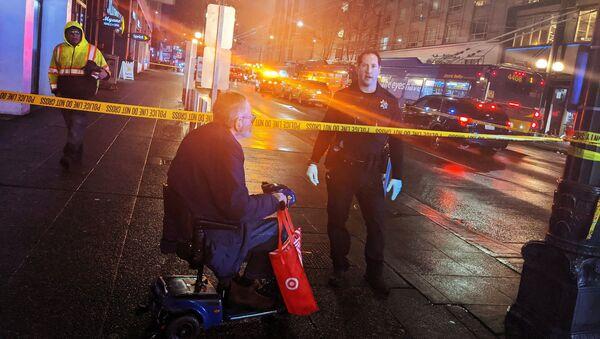 Policja na miejscu strzelaniny w Seattle - Sputnik Polska