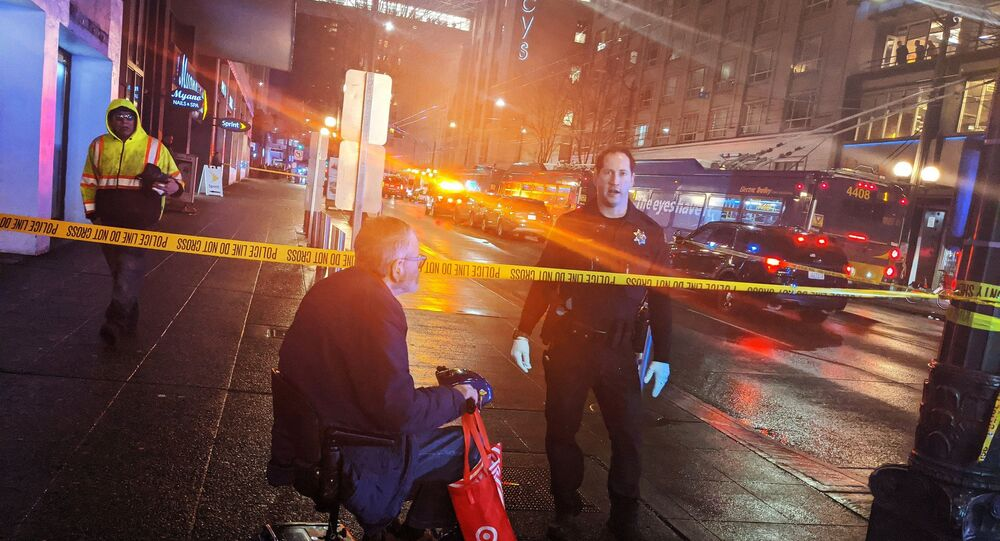 Policja na miejscu strzelaniny w Seattle