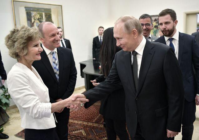 Władimir Putin w rezydencji premiera Izraela