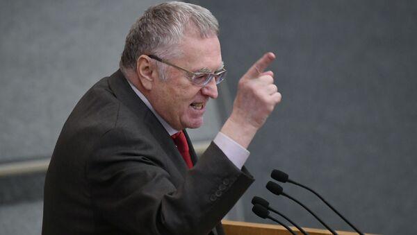 Lider partii LDPR Władimir Żyrinowski na posiedzeniu plenarnym Dumy Państwowej Federacji Rosyjskiej - Sputnik Polska