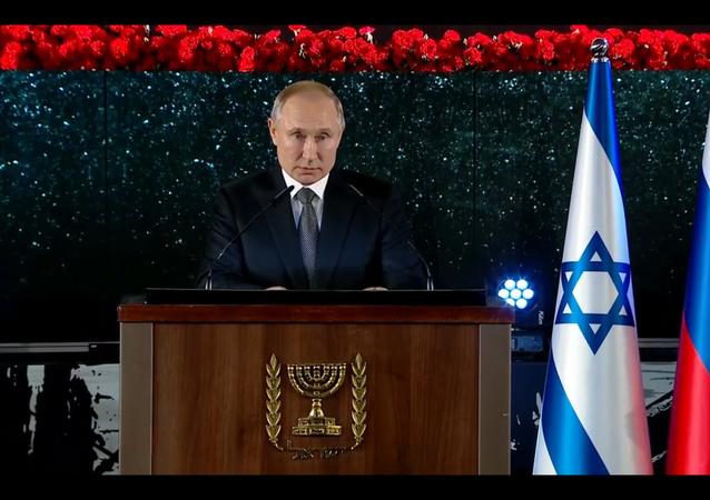 Władimir Putin nie krył wzruszenia na ceremonii odsłonięcia pomnika blokady Leningradu w Jerozolimie