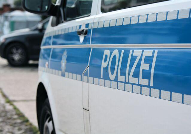 Samochód niemieckiej policji.