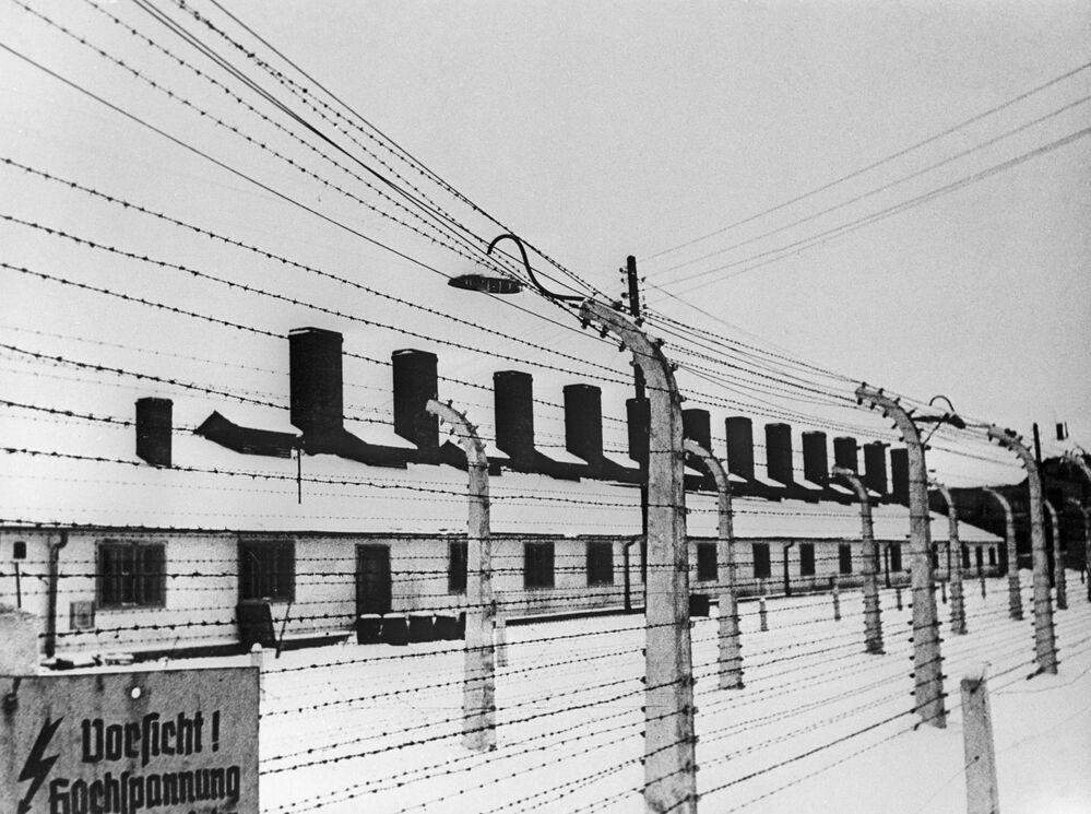 Obóz Auschwitz-Birkenau w 1945 roku