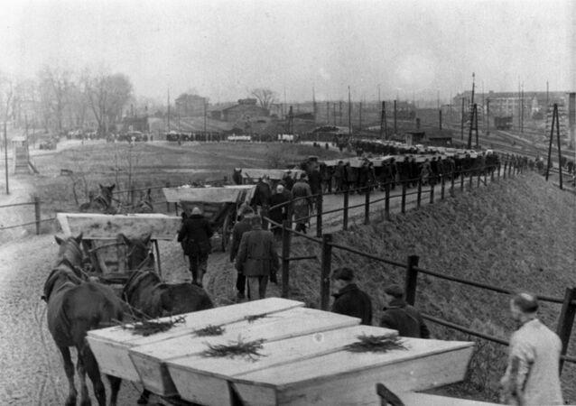 Pogrzeb więźniów Auschwitz