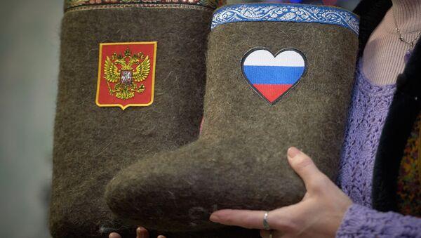 Walonki z symbolami Rosji - Sputnik Polska