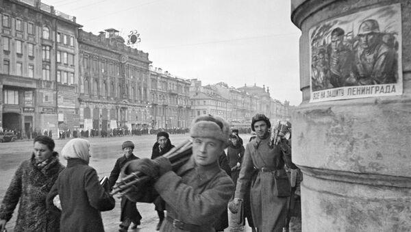 Newski Prospekt podczas blokady Leningradu, październik 1941 roku - Sputnik Polska