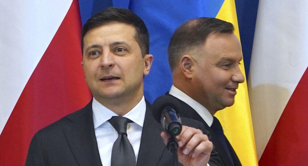Andrzej Duda i Wołodymyr Zełenski w Oświęcimiu