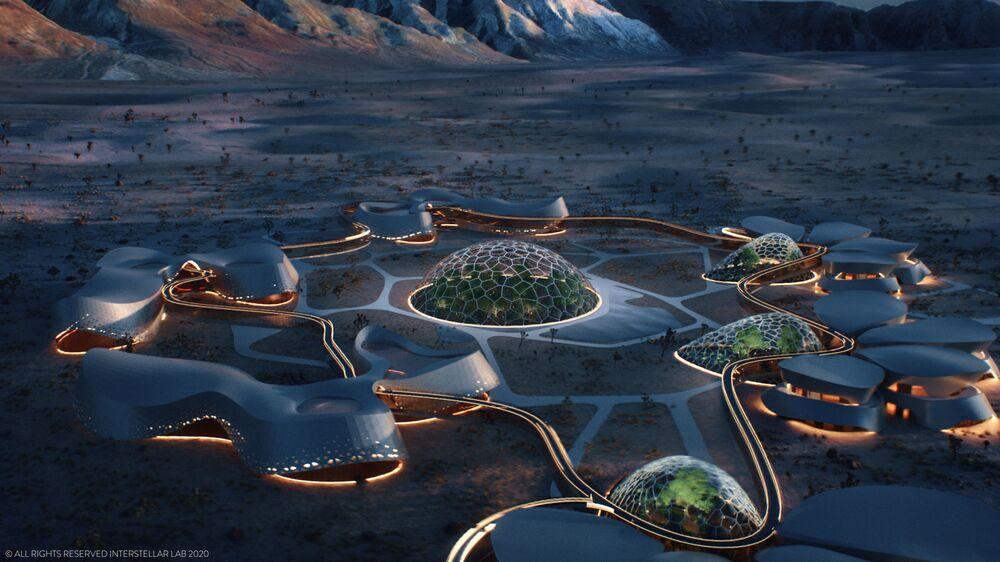 Projekt Eksperymentalnej Bioregeneratywnej Stacji (EBIOS), przeznaczony do życia na Marsie