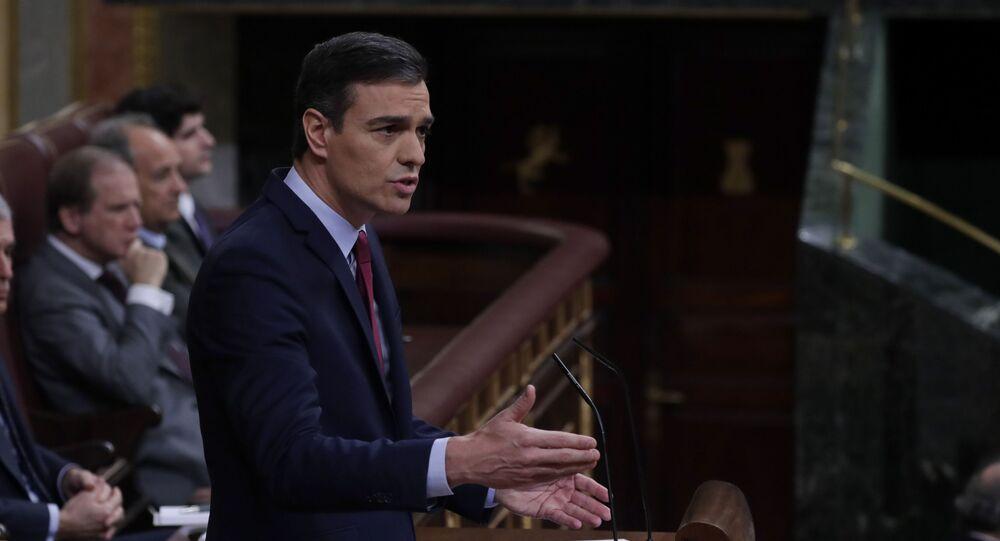 Przewodniczący rządu hiszpańskiego Pedro Sanchez