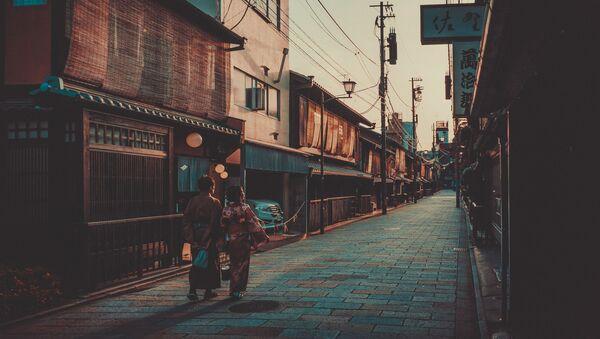 Dzielnica Kioto w Gion, gdzie pracują gejsze, Japonia  - Sputnik Polska