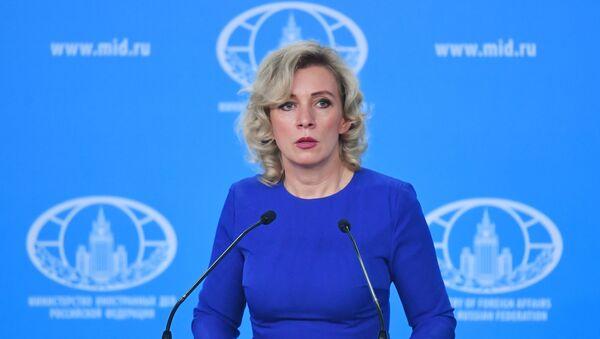 Maria Zacharowa w czasie briefingu w Moskwie - Sputnik Polska