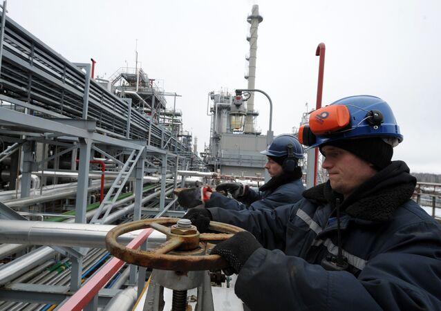 Rafineria w Mozyrzu na Białorusi