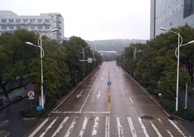 Opustoszały Wuhan, Chiny