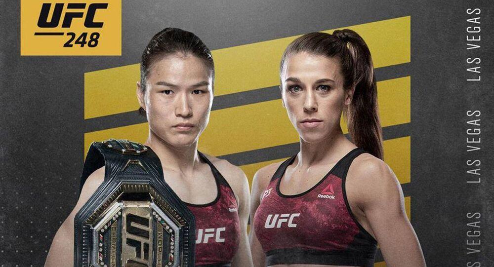 Plakat reklamowy: Joanna Jędrzejczyk vs. Weili Zhang