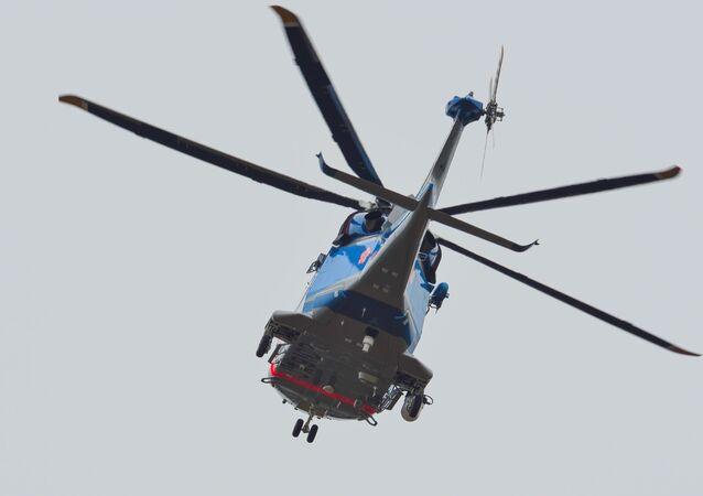 Japoński helikopter policyjny