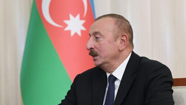 Prezydent Azerbejdżanu Ilham Alijew  - Sputnik Polska