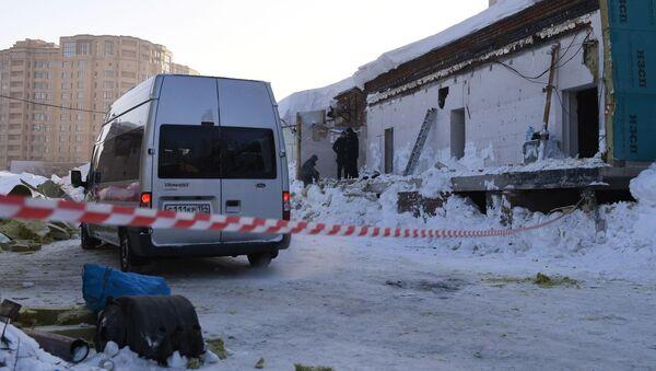 Zawalenie się dachu w kawiarni w Nowosybirsku - Sputnik Polska