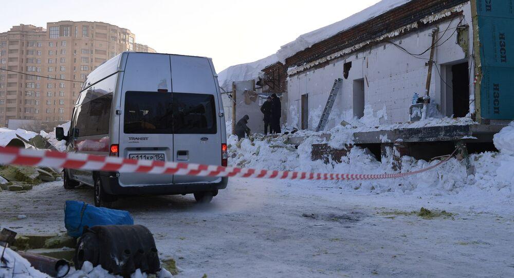 Zawalenie się dachu w kawiarni w Nowosybirsku