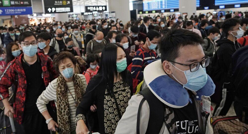 Pasażerowie w maskach, Hongkong