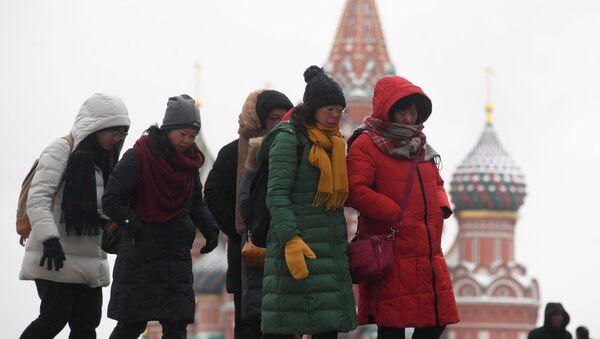 Chińczycy na Placu Czerwonym - Sputnik Polska