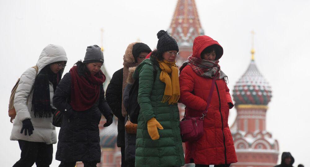 Chińczycy na Placu Czerwonym